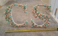 Legno di grandi dimensioni Bianco Floreale Fiori di carta lettera Menta Verde Pesca Wedding Decor