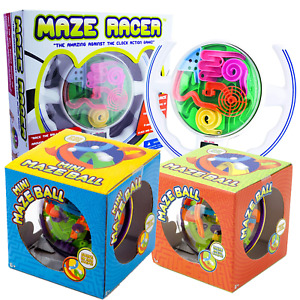 Brain Teaser Training Toy Magic Maze Ball Racer Puzzle Labyrinth Kids Logic Game