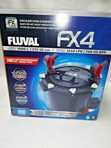 NEW FLUVAL FX4 A129 HIGH PERFORMANCE CANISTER FILTER- UP TO 250 GALLONS NIB