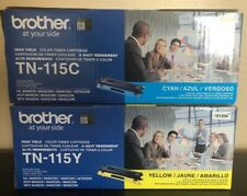New/sealed- Brother TN115Y Yellow TN115C CYAN Toner Cartridge color, High Yield