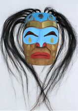 Brant Johnny Sr Original Hand Carved Painted Copper Cedar Mask First Nation