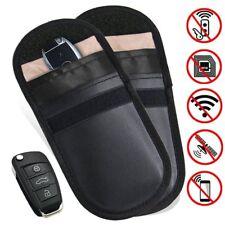 2x Phone Car Key Keyless Entry Fob Signal Guard Blocker Black Faraday Bag
