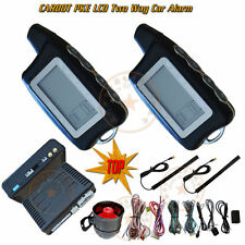 Passive 2 Way Car Alarm System LCD Remote Alarm Display Remote Start/Stop