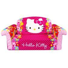 Marshmallow Furniture, Children's 2 in 1 Flip Open Foam Sofa, Hello Kitty, by