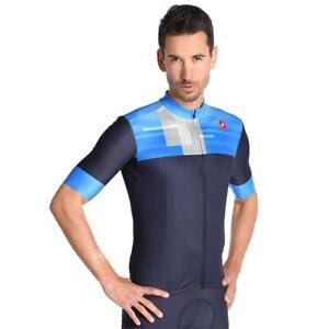 NEW Castelli Bloc Jersey, Dark Steel Blue, Size Large