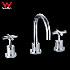 WELS Bathroom Tigris Vanity Basin Tap Set Brass Chrome Full Turn Swivel Spout