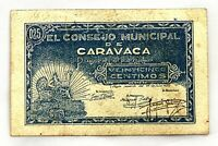 Spain-GUERRA CIVIL. Billete. 25 centimos 1937. Consejo municipal de Caravaca