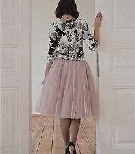 A line Skirt Women Girls Short Tulle Tutu Knee Length Prom Ballet Dress Hot