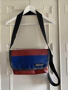 Freitag MESSENGER Shoulder Bag Satchel. Series G5.1 Red And Blue
