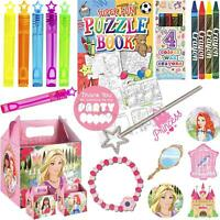 Girls Princess Pre Filled Childrens Paper Party Bags Boxes For Birthday Gifts V4