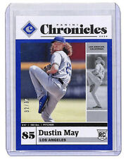 2020 Panini Chronicles Dustin May 32/50 blue parallel rookie card Dodgers