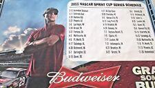 "36"" x 23.75"" Kevin Harvick #29 NASCAR 2011 Schedule BUDWEISER BEER Nylon BANNER"