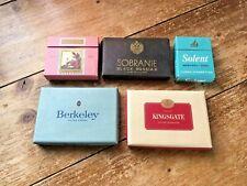 VINTAGE CIGARETTE BOXES WILLS PASSING CLOUDS SOBRANIE SOLENT BERKELEY KINGSGATE