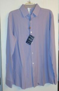 State And Liberty stainless steel button up dress shirt EXTRA LARGE NWT lavender