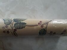 NEW Border Homestead Roll Wallpaper Green Pink White Grapes Leaves Dots Flowers