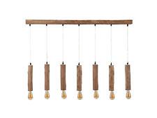 UTE Hängelampe Hängeleuchte Holzstämme Rustikales Design mit 7 E27 Fassungen