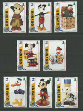 Disney Antique Toys Mickey Mouse Donald mnh set 8 stamps 1996 Guyana #3098a-h