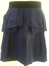 CUE Blue Memory A-line Skirt Size 12