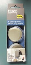 """3M Post-it 1.8"""" Diameter Magnetic Grip Discs 2 Per Pack Free Very Fast Shipping"""