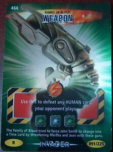 DOCTOR WHO<>BATTLES IN TIME TRADING CARD<>FAMILY OF BLOOD WEAPON<>#466 ~