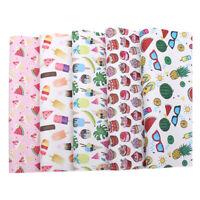 2pcs 22*30cm Cartoon Fabric Printed for DIY Hair Bow Crafts Handmade Material