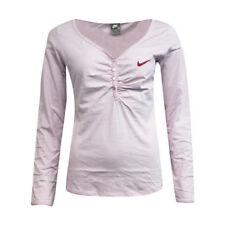 Camisas y tops de mujer rosas Nike