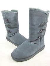 BEARPAW, SARAH 10-INCH BOOT, WOMENS, CHARCOAL, US 7M, SHEEP SKIN, PRE-OWNED