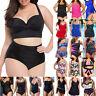 Women's Plus Size Monokini Bikini Set Swimdress Halterneck Swimwear Bathing Suit