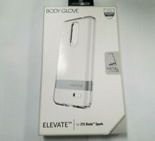 BODY GLOVE Elevate Series Case for ZTE Blade Spark, Clear with Kickstand OEM NEW