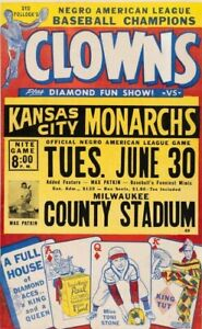 INDIANAPOLIS CLOWNS KC MONARCHS 8X10 POSTER PHOTO BASEBALL PICTURE TONI STONE