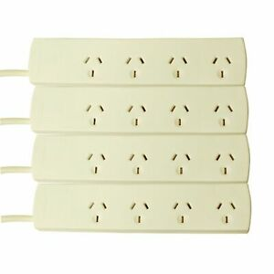 New Click 4 Outlet Powerboard - 4 Pack Power Wall mountable