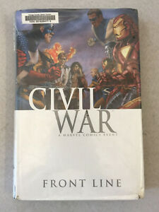 Civil War: Front Line by Paul Jenkins First Printing Ex-Library 2011 Hardcover