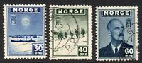 Norway Part Set of Stamps c1943-44 Used (7078)