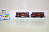 """Roco Spur H0 44090 Güterwagen-Set 2tlg. """"GEP"""" der DB mit NEM in OVP (LL8109)"""