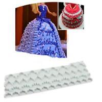 White Cake Lace Mold Plastic Baking Mold Cake Decoration Kitchen Baking Tool W