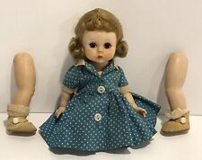 New ListingMadame Alexander-Kins Dark Blonde Doll Kins Blue Polka Dot Dress Leg Issues