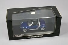 ZC957 Minichamps 400032130 Voiture Miniature 1/43 Smart Roadster 2003 Star Blue