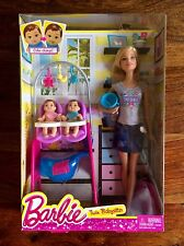 NEW! RARE! Barbie Careers Twin Babysitter Doll and Playset - Color Changing!