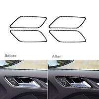 4Pcs Carbon Fiber Interior Door Handle Frame Cover Fit For Audi A3 8V 2014-2019
