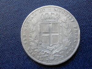 Kingdom of Sardinia - Silver Coin - 5 Lira - 1849