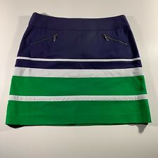 Anne Klein Womens 12 Blue Green Short Skirt Mid Thigh Length NEW