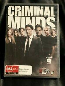 Criminal Minds : Season 9 (DVD, 2014, 5-Disc Set) Very Good Condition Region 4