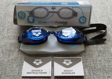 ARENA Swimming Goggles Adult Training Series ZOOM X-FIT Black /  Blue BRAND NEW