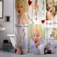 Classic Marilyn Monroe Bathroom Fabric Shower Curtain Free 12 Hooks Home Decor