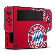 Nintendo Switch Folie Aufkleber Skin - großes FC Bayern München Logo Rot