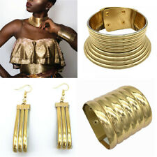 Vintage Choker Necklace African Jewelry Chunky Collar Bracelets Earring Set