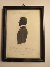 Eisenach - 1858 - Student ? E. Kaude aus Hannover - Schattenriss Silhouette