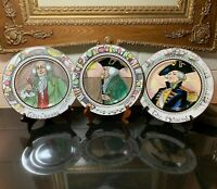 3 Different Royal Doulton The Professionals Dinner Plates England - Excellent