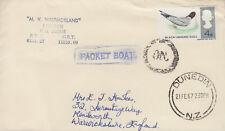 1967 Dunedin Nouvelle-Zélande paquebot Couverture ~ MV Westmorland