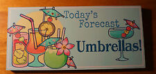 Today'S Forecast Umbrellas Tropical Drink Tiki Cantina Beach Bar Home Decor Sign